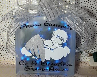 Grand Angel Lighted Glass Block