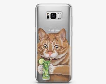 Cat Samsung Galaxy S8 Case Samsung Note 8 Case Samsung Galaxy S7 Case Samsung S8 Plus Case Google Pixel Case Samsng S6 Edge Case Gift AC1406