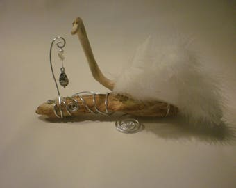 Beautiful White Swan drift wood