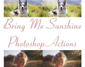 Bring Me Sunshine - Photoshop Action Set
