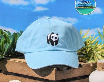 Cute Panda hat Embroidered Baseball Hat, Panda Hat, Animal Hat, Choose Your Own Color Hat, Customized Hat, Low Profile Hat, Dad Hat