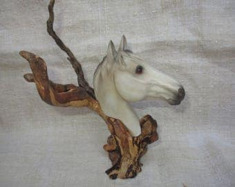Horse resin on wood