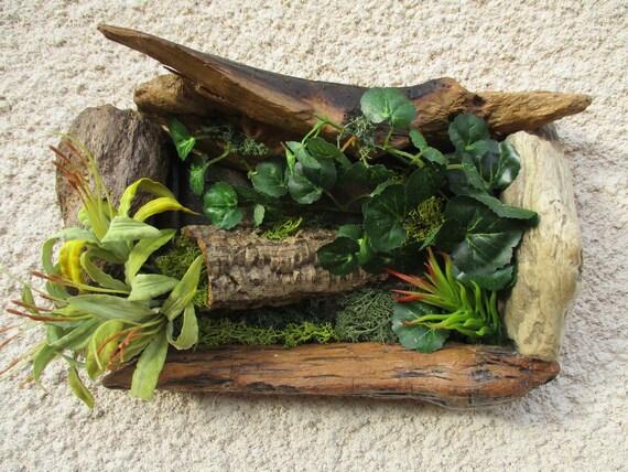 Tableau v g tal bois flott et plantes - Tableau vegetal ...