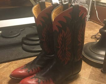 NOW ON SALE Vintage Western Tony Llama Cowboy Boots Size 10.5 D