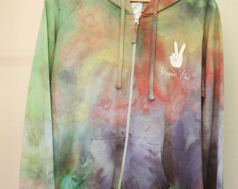Adult Size 16/xl - Ready To Ship - Unisex - Tie Dyed - Hoodie Jumper - 100% Cotton - Polar Fleece - FREE SHIPPING within AUS