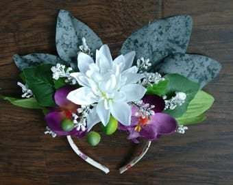 Mother Nature Floral Headdress - Orchids