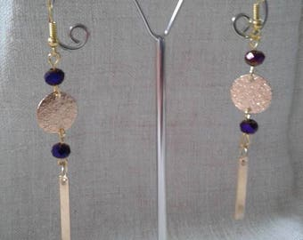 """""""duo beads and gold"""" earrings"""