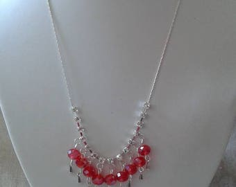 "necklace ""rhinestones and red wedding"""