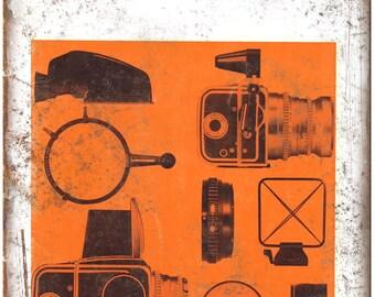 """Hasselblad 500C Film Camera 10"""" x 7"""" Retro Look Metal Sign"""