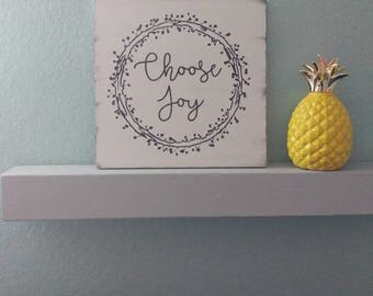 Choose joy sign, rustic wooden sign, wooden wall decor, inspirational sign, faith sign, custom wooden sign