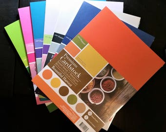 """Premium Cardstock 8.5 x 11"""", Core'dinations by Darice, 65lb cardstock, multiple color packs, smooth cardstock"""