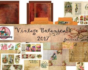 Vintage Botanical Journal Digi Kit 4x6