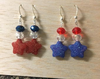 Fourth of July Earrings Part I