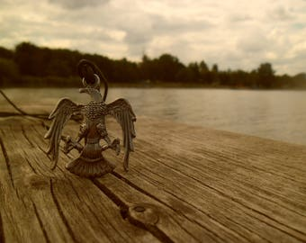 Eagle necklace, bird necklace, animal necklace,eagle wings pendant,freedom symbol