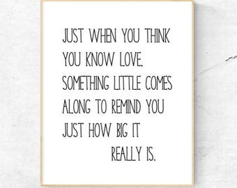 How Big Love Really Is Nursery Print Digital wall art - Instant download