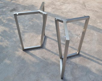 28u0027u0027Table Base, Bracket Metal Table Legs, Industrial Style, Woodworking,