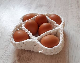 Crochet Egg Basket  Easter Basket Crochet Basket Easter Gift  Easter decor