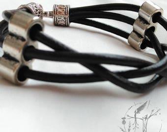 Man bracelet. Male jewellery. Simplicity and good taste