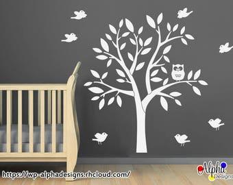 Nursery Wall Decal - Owl in a Tree