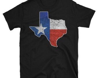 Texas Shape Flag Hurricane Harvey Unisex T-Shirt