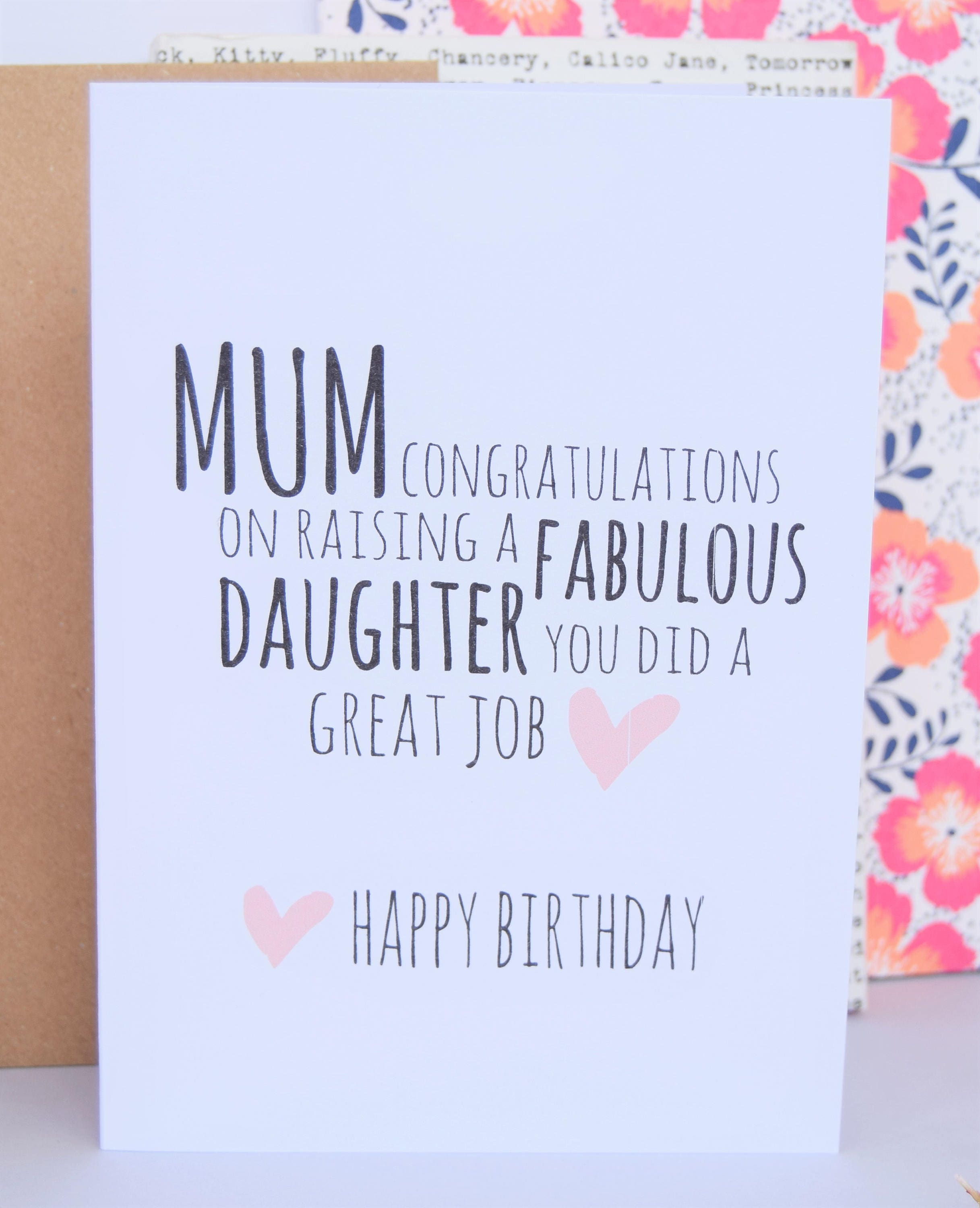 Mum birthday card fabulous daughter mom card mom birthday card mum birthday card fabulous daughter mom card mom birthday card card for bookmarktalkfo Images