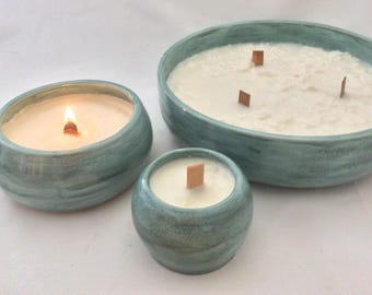 Handmade Pottery Candles