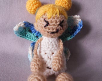 Bianca, the little fairy with blue wings