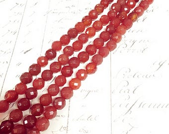 AA quality, Calnelian Beads, Red Beads, Round, 8mm, Full strand,