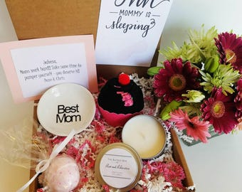 New Mom Gift Box. New Mother Gift Basket. Tired Mom Gift Box. Mom Care Package. Mom to Be Gift. New Parent Gift. Mommy is Sleeping.
