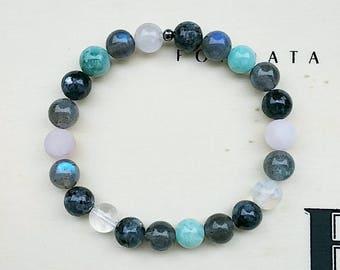 Natural stone stretch bracelet