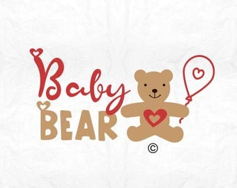 Baby Bear SVG Clipart Cut Files Silhouette Cameo Svg for Cricut and Vinyl File cutting Digital cuts file DXF Png Pdf Eps