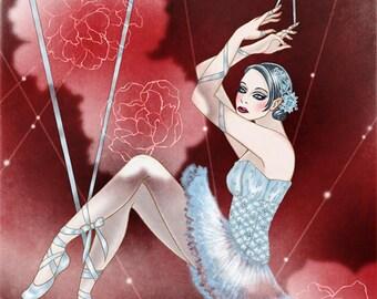 Marionette Ballerina 8 x 10 Art Print