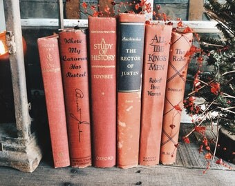 Old Books - Great Red Decorative Books