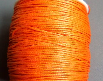 1 m orange waxed cotton cord