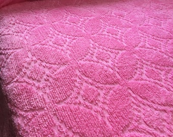 Reduced Vintage  Pink Chenile For Single Bed