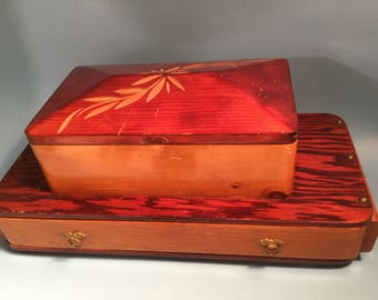 Vintage wood jewelry box