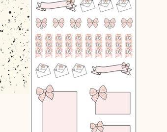 BOW SAMPLER | Planner Stickers | Premium Matte Paper