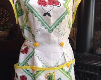 Cobbler tablecloth apron.