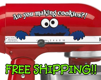 Are you making cookies? Cookie monster KitchenAid decal stand mixer sticker for Kitchen Aid decals and stickers from Sesame Street