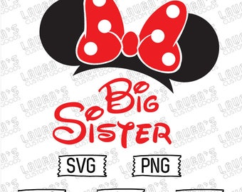 Minnie Mouse Big Sister svg - Minnie Mouse svg - Minnie Mouse Sis svg - Big Sister svg