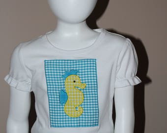 Appliqued Seahorse Shirt
