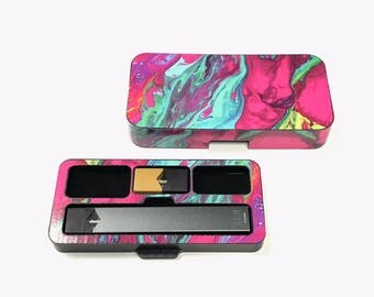 JUUL Vape travel case Stabilized Wood 8 S364 design