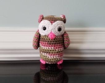 New Handmade Crochet Amigurumi Owl - Ready to ship