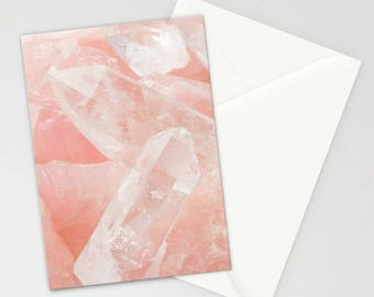 Rose Quartz Stationary, Blush Pink Stationary, Stationary Set, Notecards, Thank You Cards, Light Pink Stationary Cards, Gifts for Her