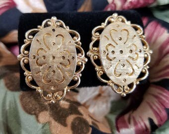 Classic Gold Tone Oval Clip Earrings by Emmons
