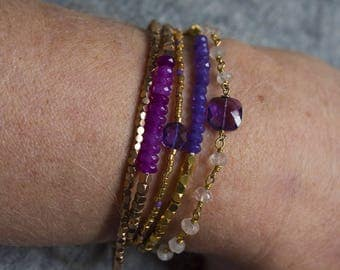 Bracelet gemstones and Vermeil beads