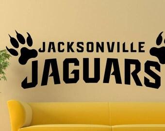 Jacksonville Jaguars Vinyl sport wall decal home decor a264