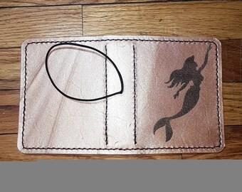 Mermaid Leather Traveler's Notebook / Leather TN / Leather Fauxdori