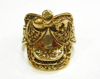 10K Gold Saddle Ring - X4087