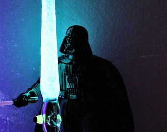 """ONLY 1!  """"Light Sabre"""" Glow in the Dark Glass Pipe * Galaxy Pipes * Trippy Pipe * Hand Blown Pipes * Cool Pipes * Star Wars Pipe * Jedi Pipe"""